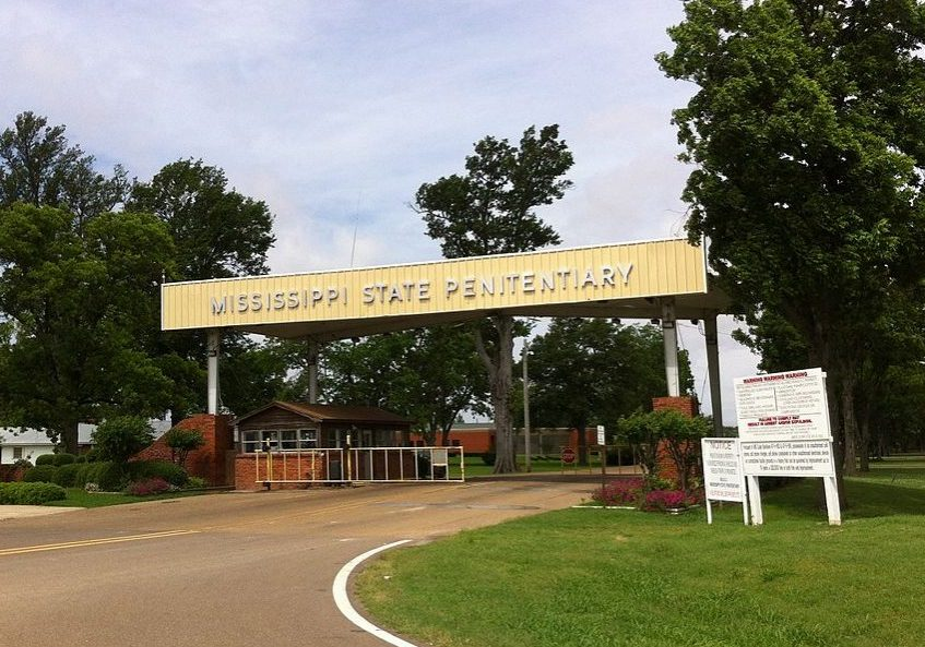 Parchman State Penitentiary entrance, Mississippi. (Photo credit: WhisperToMe/Wikimedia Commons)
