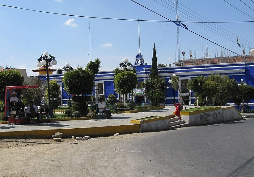 Tenancingo Tlaxcala Municipal Palace, November 2007 (Photo credit: Danderman/Wikimedia Commons)