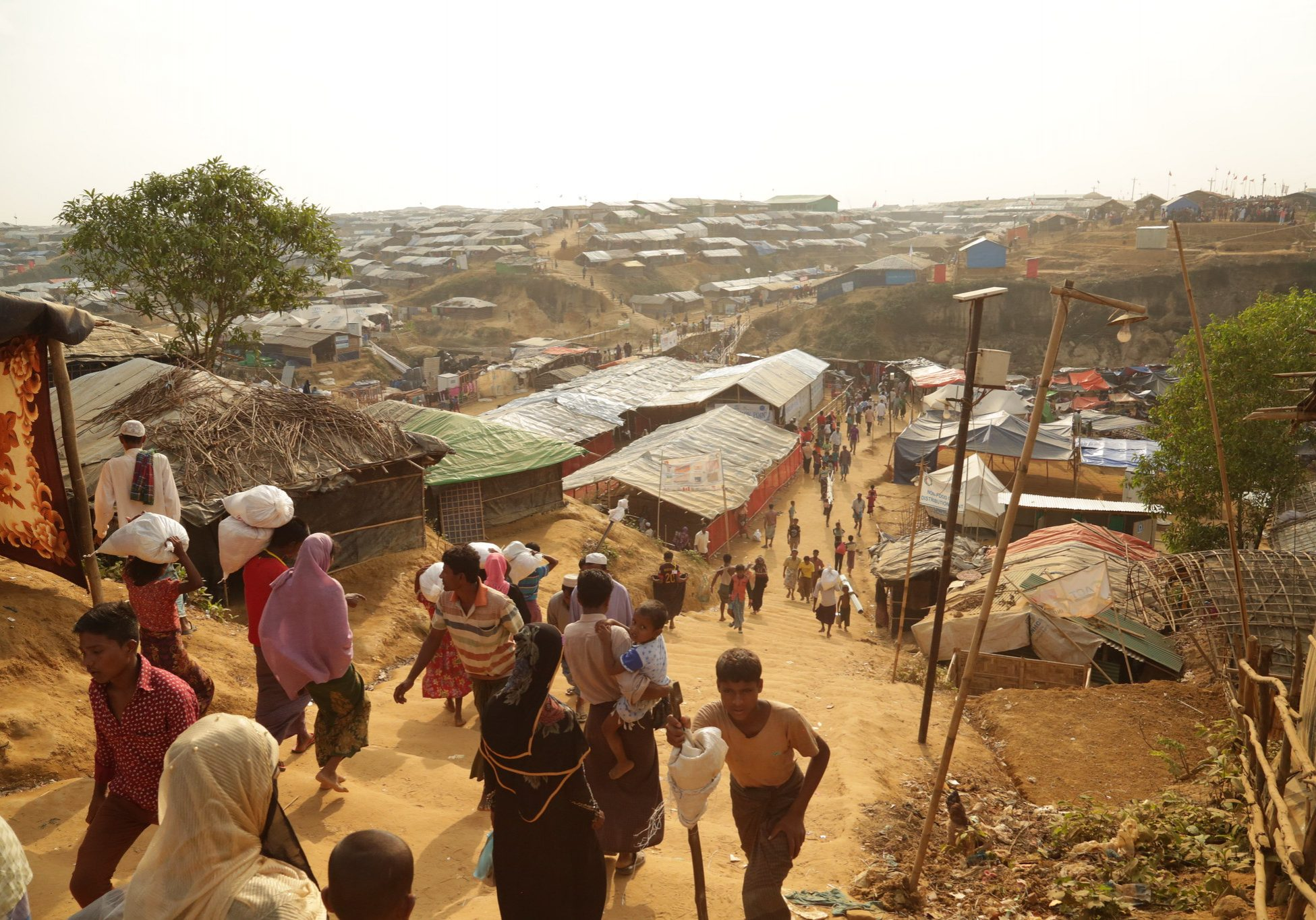 View of the sprawling Kutupalong refugee camp, Bangladesh. Photo credit: Russel Watkins/Department for International Development, UKAID