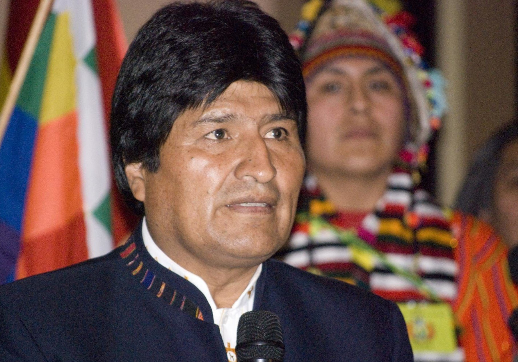 Bolivia's President Evo Morales, pictured here in 2009, has been accused of fraud in his bid to win an unprecedented fourth term. He has accused his opponents of plotting a coup. (Photo credit: 
