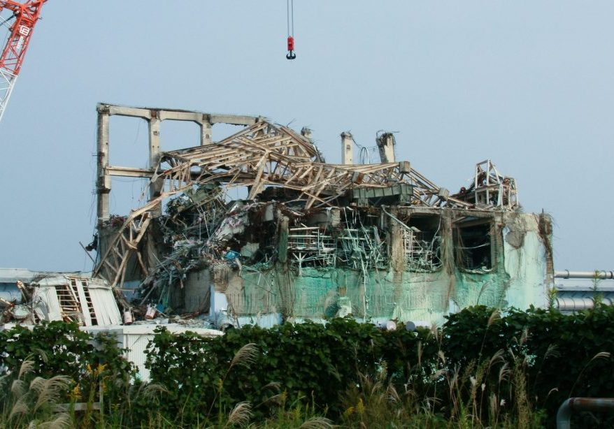 The wreckage of reactor Unit 3 at the Fukushima Daiichi nuclear power plant. (PhotocCredit: Giovanni Verlini / IAEA)