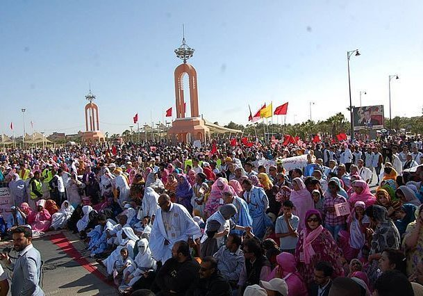 A meeting of Western Sahara Sahrawi. (Photo source: BirLahlou/WikiMedia Commons)