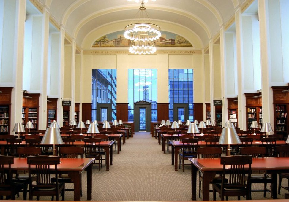 The Grand Reading Room, Nashville Public Library, Tennessee (Photo credit: Robert Claypool/Flickr Creative Commons)