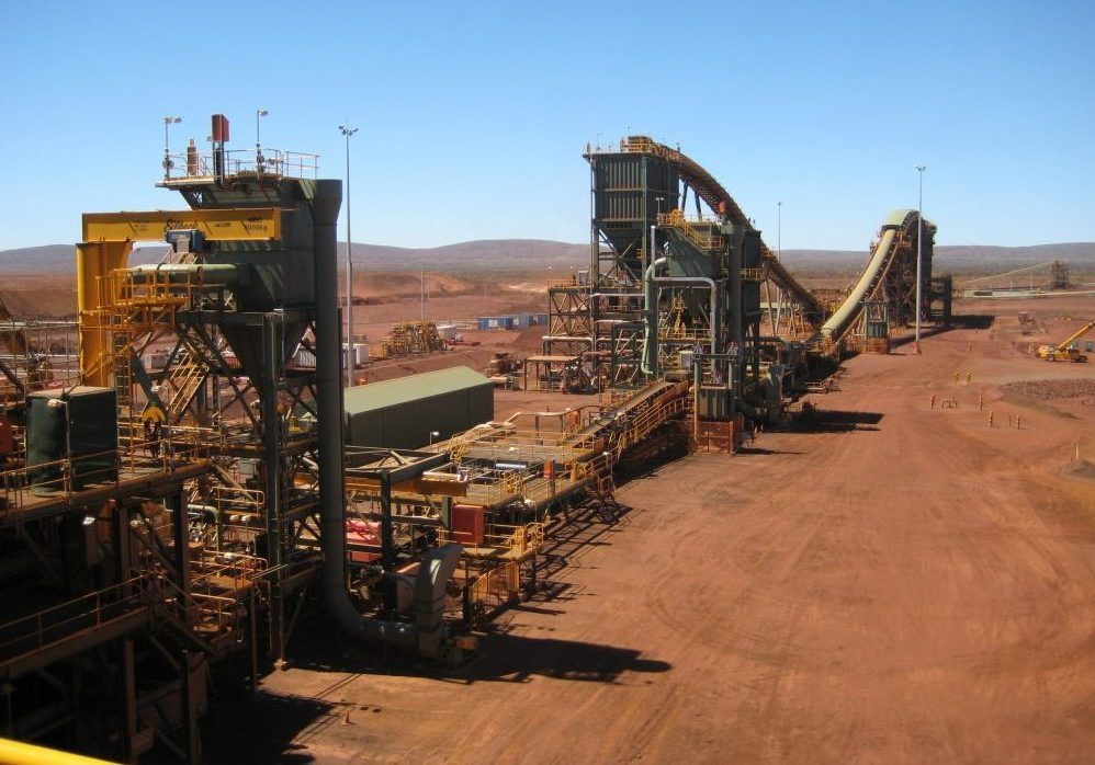 Infrastructure at Rio Tinto's Brockman 4 iron mine in the Pilbara region of Western Australia. (Photo credit: Calistemon/Wikimedia Commons)