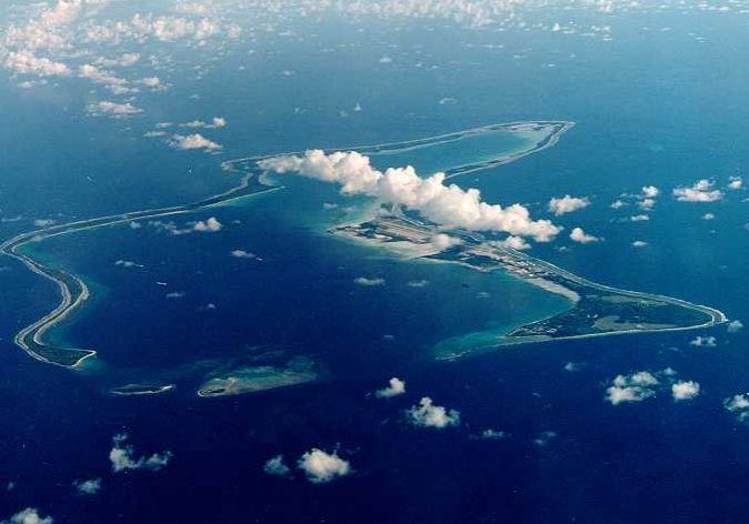 Diego Garcia in the Chagos Archipelago. (Photo source: U.S. Department of Defense)