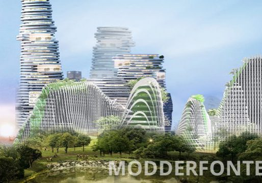 An artist's rendering of the doomed, high-concept Modderfontein development in South Africa. (Photo source: Handout)