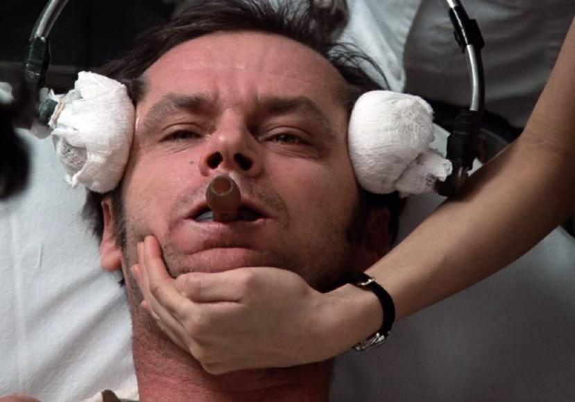 """Jack Nicholson starred in """"One Flew Over the Cuckoo's Nest"""" as Randle Patrick McMurphy, who is forced to undergo a electroconvulsive therapy (ECT) in an oppressive psychiatric institution."""