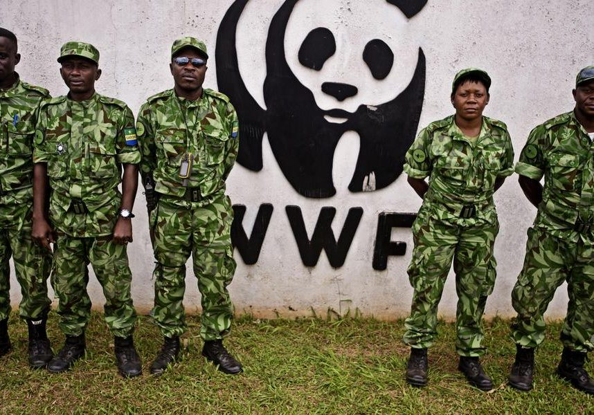 Anti-poaching rangers in Gabon. An investigation by Buzzfeed News found that WWF executives knew about human-rights abuses committed by anti-poaching officers financed by the organization. (Photo source: WWF)