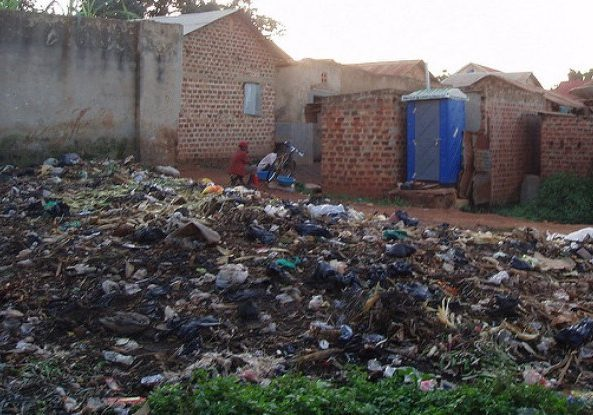 Plastic bottles stand out in a Kampala waste pile (Source: SuSanA Secretariat/Flickr Creative Commons)