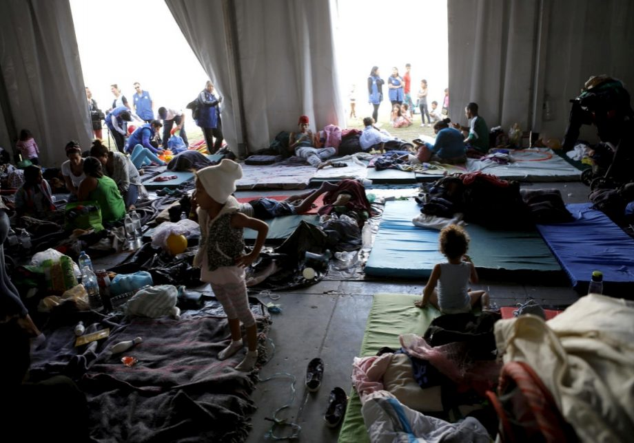 Central American migrants in a shelter in Mexico City. (Photo credit: United Nations Refugee Agency/Daniel Dreifuss)