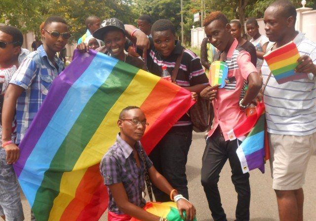 Gay-rights demonstrators in Tanzania. (Source: Twitter.com/LGBTvoicetz)